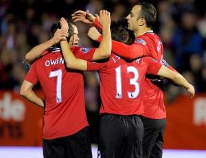 Aldershot x Manchester United - Comemoração (Foto: Getty Images)