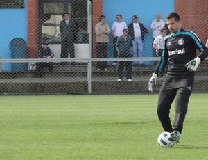 Goleiro Victor, do Grêmio (Foto: Eduardo Cecconi/Globoesporte.com)