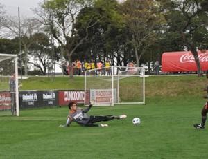 Goleiro Santos, do Atlético-PR (Foto: Divulgação/Atlético-PR)