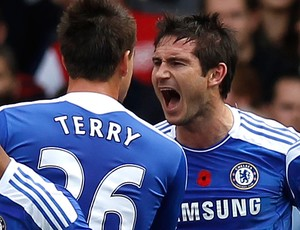 lampard terry chelsea gol arsenal (Foto: Agência Getty Images)