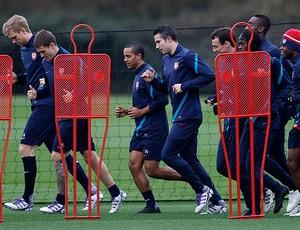 Treino do Arsenal (Foto: Reuters)