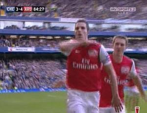 Van Persie Arsenal comemoração (Foto: Reprodução / Sky Sports)