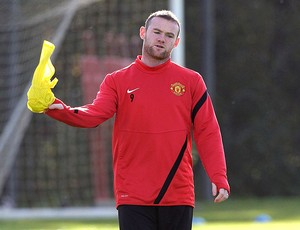 Rooney no treino do Manchester United (Foto: AP)