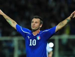 Cassano, com a seleção da Itália (Foto: AFP)