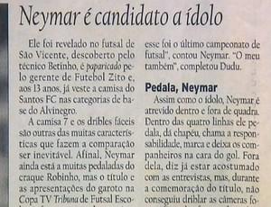 Frame - Neymar escola EE (Foto: Reprodução )
