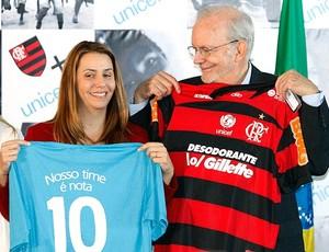 Patricia Amorim no evento do Flamengo com a Unicef (Foto: André Portugal / Vipcomm)