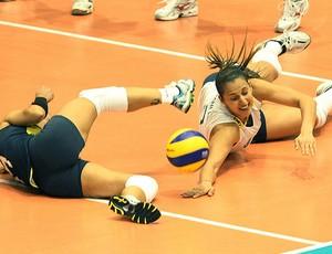 Dani Lins na derrota do Brasil contra os EUA na Copa do Mundo no Japão (Foto: FIVB)