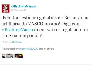 Frame Pelelton twitter Vasco (Foto: Reprodução/Twitter)