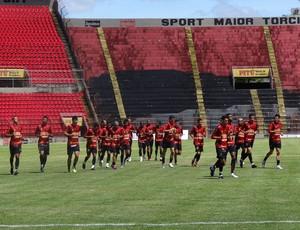 Treino do Sport (Foto: Bruno Marinho / GloboEsporte.com)