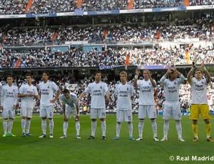 Real Madrid homenagem Antonio Cassano (Foto: Divulgação / Real Madrid)