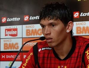 Júnior Viçosa, atacante do Sport (Foto: Bruno Marinho / GloboEsporte.com)