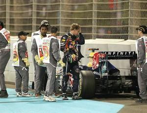 Vettel no treino da F-1 em Abu Dhabi (Foto: Getty Images)