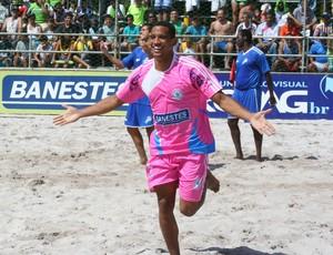 Diego comemora o gol da seleção capixaba sobre o Rio de Janeiro na Copa dos Campeões (Foto: Pauta Livre)