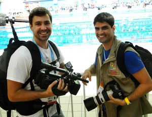 andre e gustavo documentario clodoaldo natação (Foto: Helena Rebello / Globoesporte.com)