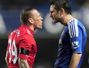 Bellamy e Lampard discutem, Chelsea x Liverpool (Foto: Getty Images)