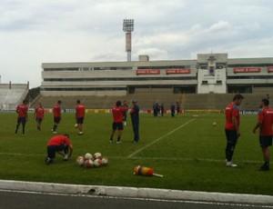 Paraná realiza primeiro treino antes de enfrentar o Bragantino (Foto: Gabriel Hamilko / GLOBOESPORTE.COM)
