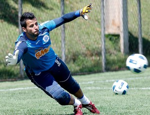 Fábio no treino do Cruzeiro (Foto: Washington Alves / VIPCOMM)