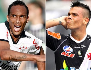 Liédson, do Corinthians, e Bernardo, do Vasco (Foto: Arte/SporTV.com)