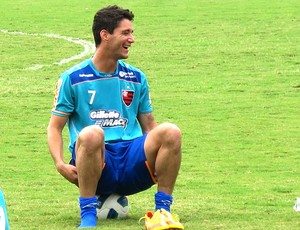 Thiago Neves no treino do Flamengo (Foto: Janir Junior / GLOBOESPORTE.COM)