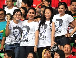 torcida para Beckham na Indonésia (Foto: AFP)