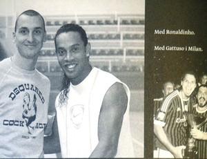 fotos do livro da carreira de Ibrahimovic (Foto: Reprodução )
