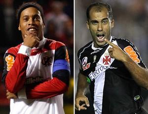 Ronaldinho Felipe Flamengo x Vasco (Foto: Montagem sobre foto da Ag. Estado)