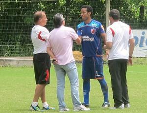 Fernando despedida Veloso Luxemburgo treino Flamengo (Foto: Richard Souza / Globoesporte.com)