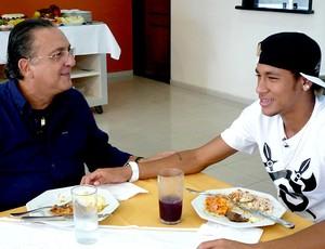 Galvão Bueno e Neymar Na Estrada EE (Foto: Raphael Andriolo / Globoesporte.com)