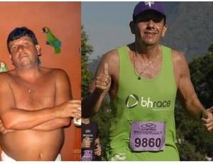 corrida de rua antes e depois (Foto: Arquivo Pessoal)