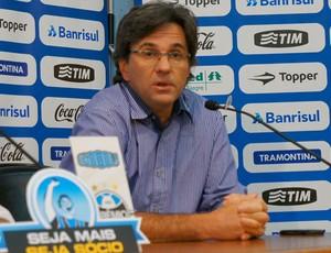 Caio Junior em coletiva no Grêmio (Foto: Diego Guichard/Globoesporte.com)