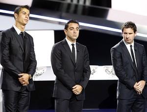 Cristiano Ronaldo, Xavi e Messi (Foto: AFP)