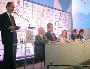 Aldo Rebelo, Ministro do Esporte, na Footecon  (Foto: Richard Souza / GLOBOESPORTE.COM)