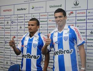 Aelson e Neílson são apresentados pelo Avaí (Foto: Divulgação)