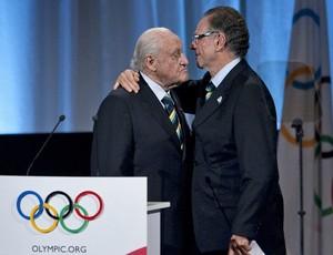 Olimpíadas Rio 2016 João Havelange e Carlos Arthur Nuzman (Foto: AP)