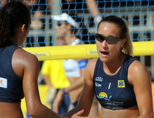Sandressa e Thaís, dupla de vôlei de praia (Foto: Maurício Kaye/Divulgação)