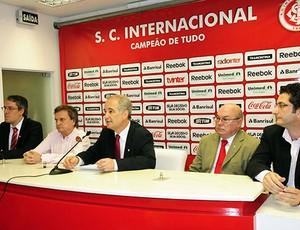 Giovanni Luigi, presidente do Internacional, em coletiva sobre as obras no Beira-Rio (Foto: Divulgação / Site Oficial do Internacional)