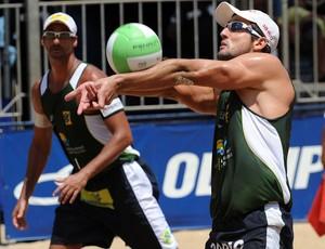 Ricardo e Pedro Cunha em Fortaleza (Foto: Divulgação/CBV)