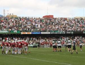 Coritiba Crocodiles e Fluminense Imperadores futebol americano (Foto: Gabriel Hamilko / GloboEsporte.com)