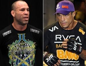 Montagem Wanderlei Silva e Vitor Belfort UFC (Foto: Divulgação/Site Oficial do UFC)