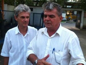 Jairo Ribeiro, presidente do Vitória-ES, e seu vice José Venturini (Foto: Igor Gonçalves/Globoesporte.com)