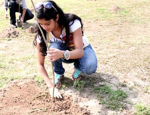 Bosque do atleta, na Vila Olímpica de Manaus (Foto: Anderson Silva/Globoesporte.com)