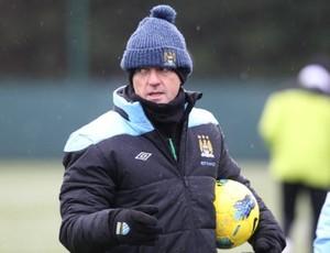 Roberto Mancini técnico Manchester City (Foto: Reprodução / Manchester City)