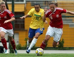 Marta, Brasil x Dinamarca, pelo Torneio Internacional Cidade de São Paulo (Foto: Fernando Pilatos)