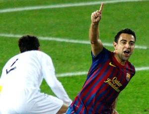xavi barcelona gol santos (Foto: Agência Reuters)
