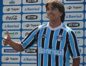 Apresentação Marcelo Moreno (Foto: Eduardo Cecconi/Globoesporte.com)