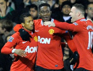 Welbeck rooney nani Manchester United x Fulham (Foto: Reuters)