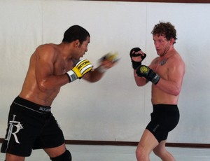 José Aldo treina com Gray Maynard (Foto: Ana Hissa/Sportv.com)