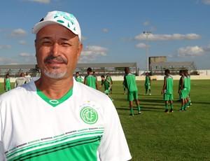 América-PE - técnico Paulo Júnior (Foto: Elton de Castro / GloboEsporte.com)