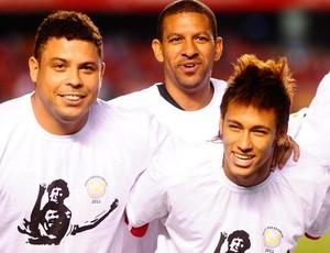Jogo das Estrelas - Ronaldo, Djalminha e Neymar (Foto: Marcos Ribolli/Globoesporte.com)