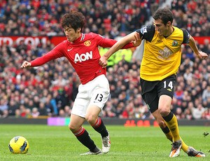 Ji-Sung Park  Manchester United Radosav Petrovic Blackburn (Foto: Getty Images)